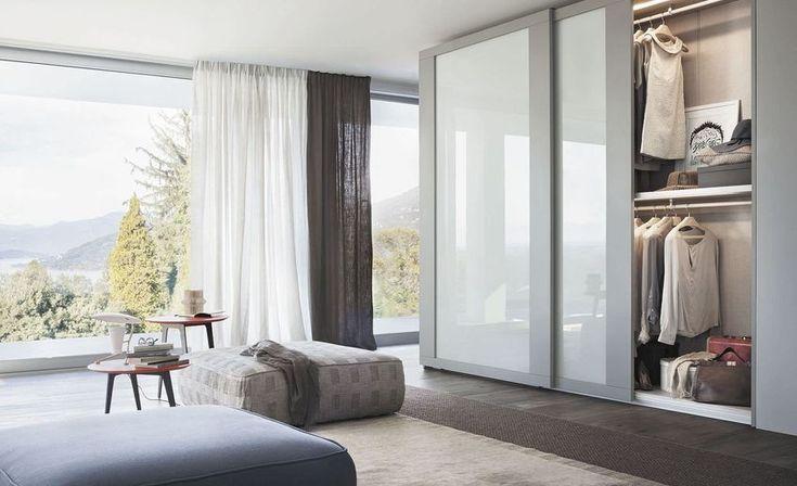 Fascinating built in wardrobe with sliding door for bedroom