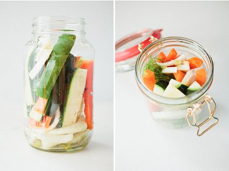 What's neat about these is you can use any veggie & can do in small batches...no canning involved!