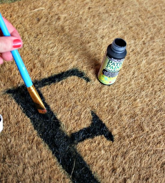 DIY with Outdoor Patio Paint on coir mat