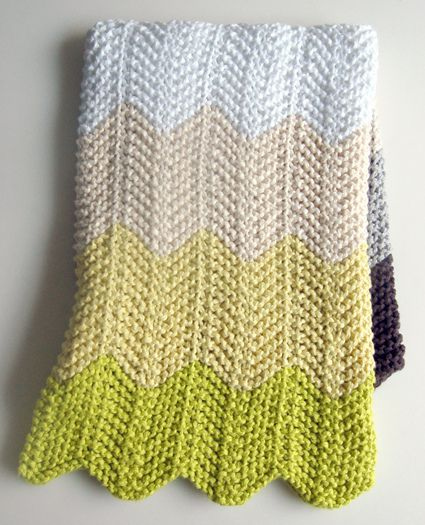 Cobertor de tricô em ziguezague