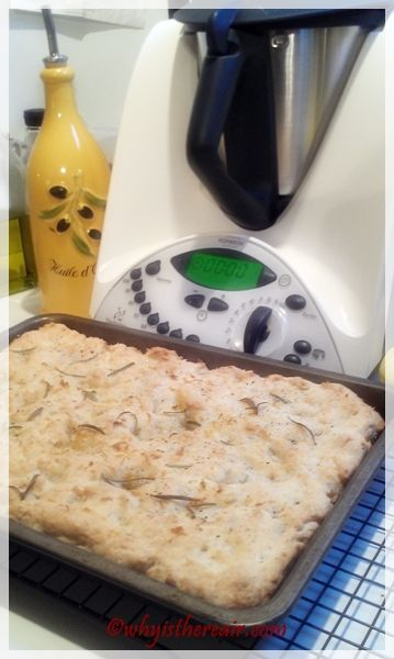 Thermomix GF Focaccia bakes up to a lovely golden brown w/great texture http://www.whyisthereair.com/2013/02/04/thermomix-gluten-free-focaccia-bread/#