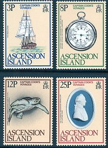 Ascension Island 1978 Cook Voyages British Commonwealth empire colonial stamp stamps bird