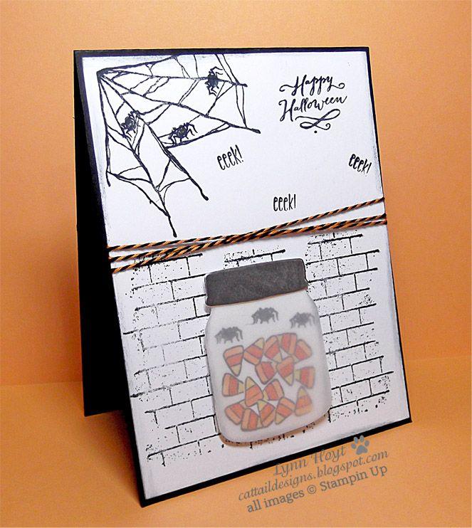cattail designs stampin up halloween sneak peek spooky fun ghoulish grunge - Stampin Up Halloween Ideas
