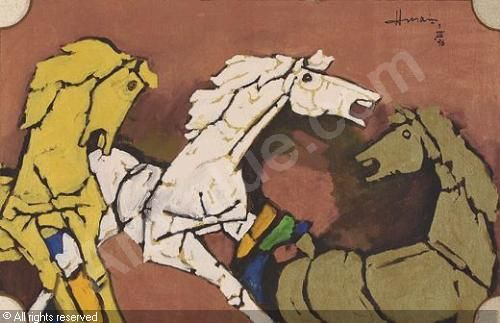 mf hussain paintings - Buscar con Google