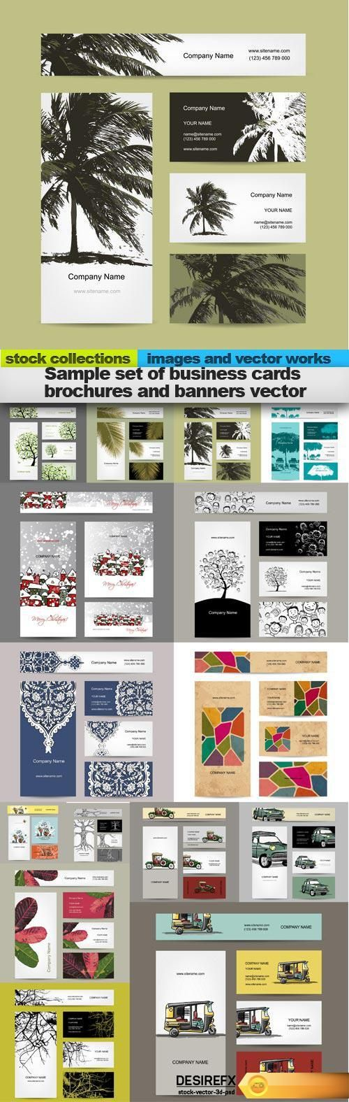 Find your Grapfix Desire With US http://www.desirefx.me/sample-set-of-business-cards-brochures-and-banners-vector-15-x-eps/