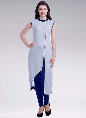 Rahi Grey And Blue Designer Ready To Wear Stitched Cotton Kurti With Legging Rf20145 Kurtas and Kurtis For Women