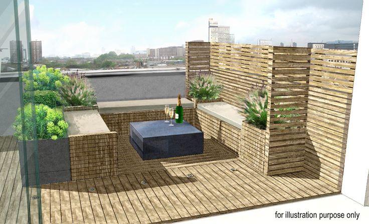 Rooftop in Bermondsey | Charlotte Rowe Garden Design