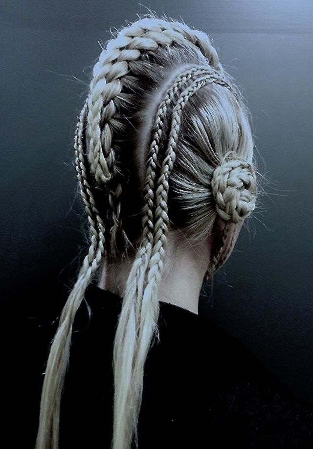 Star wars show hair, keep the small braids just move them to the side where the buns are and do a bun mohawk