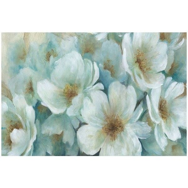 Horizontal Wall Decor perfect peonies canvas wall art ($80) ❤ liked on polyvore