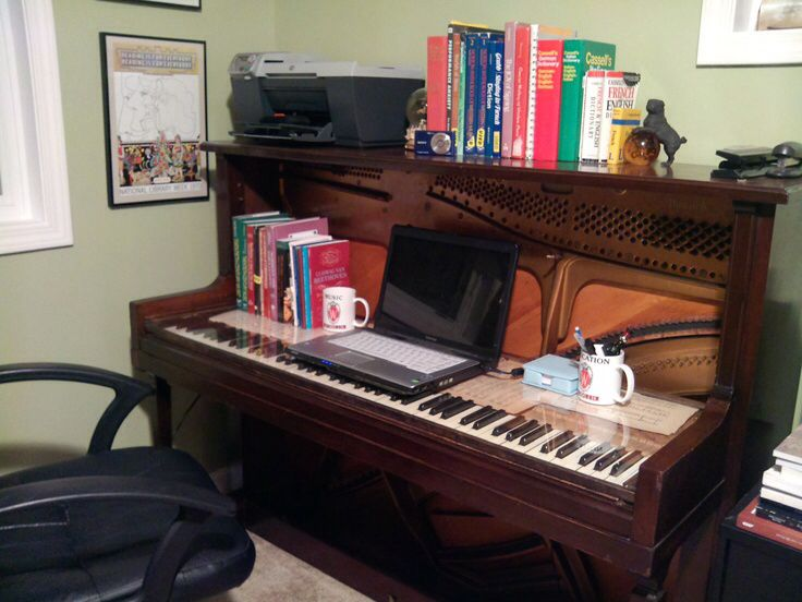 29 best images about repurpose old pianos on pinterest keyboard upright piano and computer desks. Black Bedroom Furniture Sets. Home Design Ideas