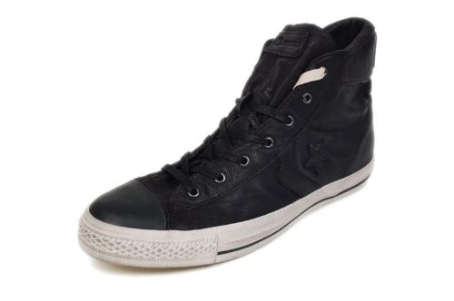 jv converse black leather high top