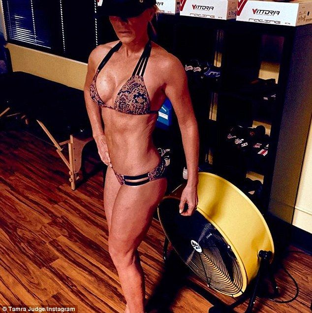 HOUSEWIFE ALERT! Transformed! Tamra Judge, 48, showed off her ripped bikini bod and daily food diary via social media.