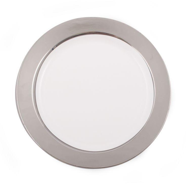 6  White/Silver Baron Plastic Dessert Plates  sc 1 st  Pinterest & 12 best Elegante wegwerpservies bekers en bestek images by ...