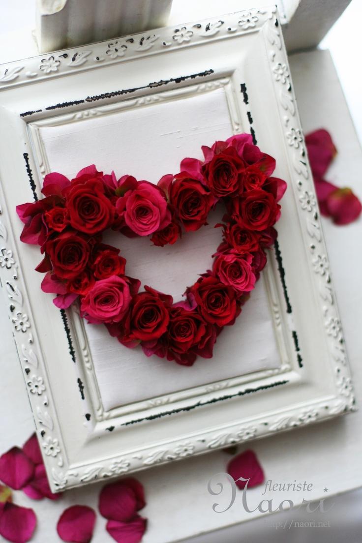 Heart frame rose
