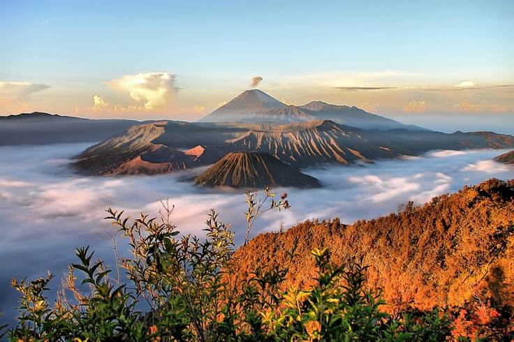 A View of Bromo Mountain in Indonesia. Photo taken by Anthony Harman