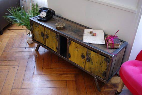 Meuble Industriel Enfilade Acier Decor Home Decor Furniture