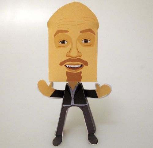 Andy Parsons Paper People Free Paper Toy Download - http://www.papercraftsquare.com/andy-parsons-paper-people-free-paper-toy-download.html#AndyParsons, #PaperPeople