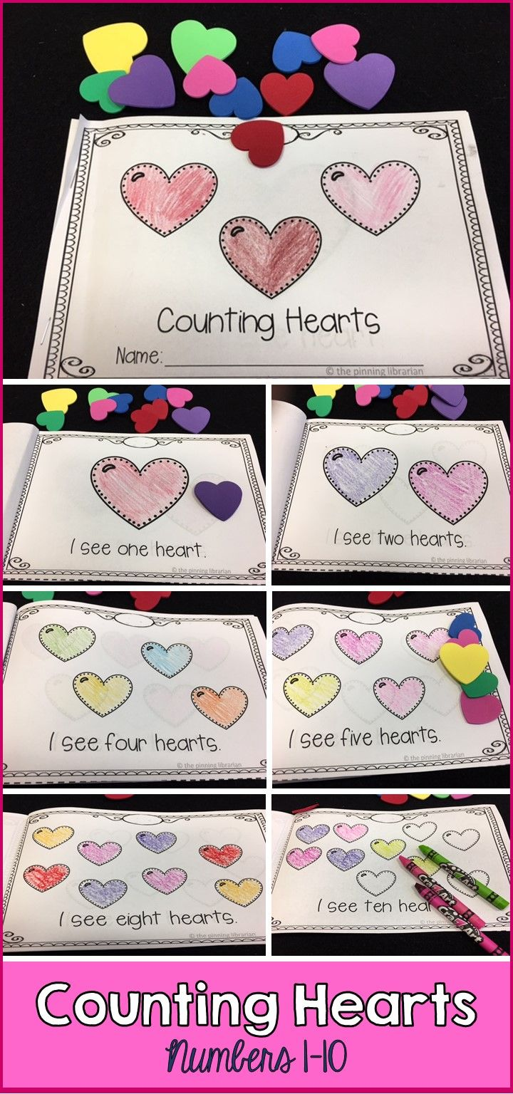 Counting Hearts, is a great book to add to your winter unit, Valentine's unit, or to read just for fun! The sight words included are: I and see and number words 1-10. This reader is perfect for your beginning readers! There are simple, repetitive sentences with ample spacing between words. The kids will love coloring the pictures and learning how to read!
