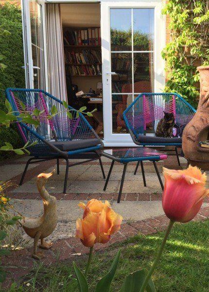 Linda's Copa Outdoor set in Spectrum Pink. | MADE.COM/Unboxed