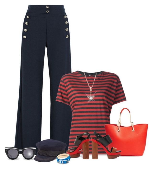 """""""Haul Anchor!"""" by ladychatterley ❤ liked on Polyvore featuring Chloé, R13, Phase 3, Michael Kors, HOOK LDN, Lucky Brand, Balenciaga, stripes, michaelkors and Nautical"""