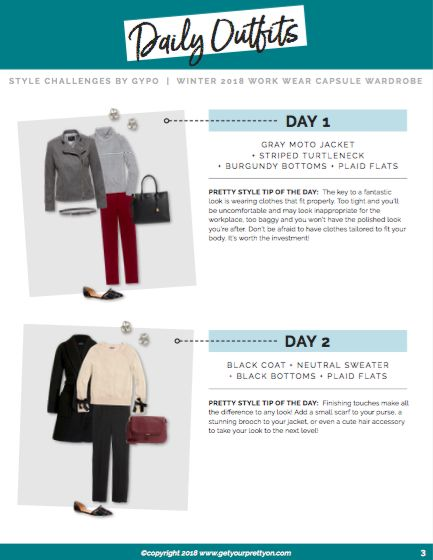 Winter 2018 Work Wear Capsule Wardrobe from Style Challenges by Get Your Pretty …