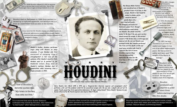 Harry Houdini Infographic