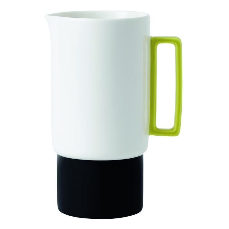Royal Doulton and HemingwayDesign have collaborated to combine classic lines and geometric design to create contemporary accessories for decoration, as well as everyday use Monochrome jug with a splash of bright lime colour is a modern take on a vintage style It's the perfect stand out piece for your table and makes a great gift for her