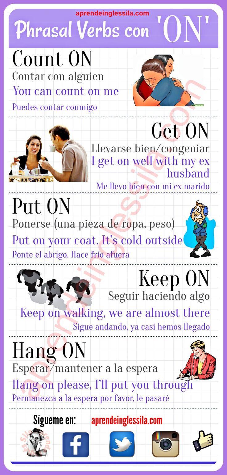 Phrasal verbs con On