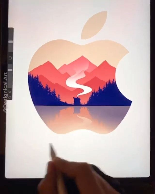 Drawing Anatomy Art Official On Instagram This Is Mesmerizing Redesigning The Apple Logo By Designical Art Art Logo Apple Logo Anatomy Art