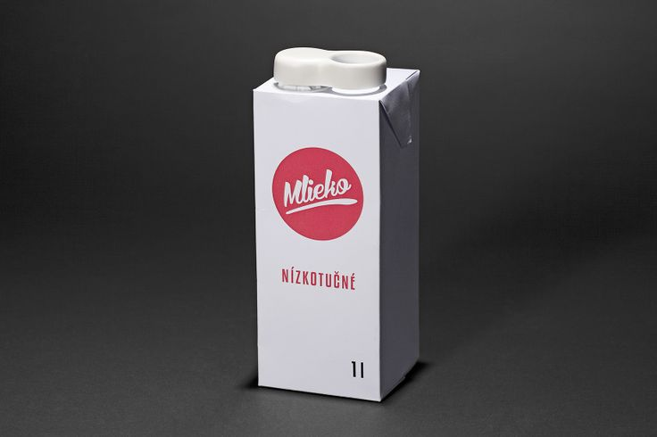 """1st place, topic """"Ageing"""", University students and designers of up to 30 years of age, Matúš Mitas, Package for Milk, Slovak University of Technology in Bratislava, Slovakia, photography: Filip Šach"""