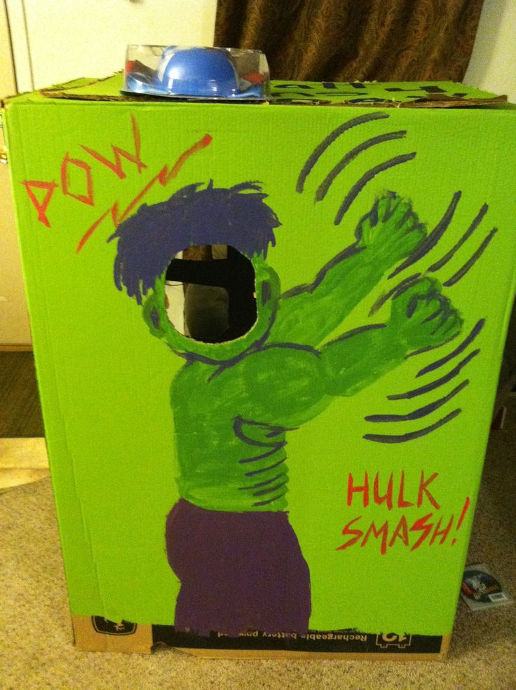 Great idea but maybe actually have the Hulk printed on the box?  Hulk photo board avengers birthday