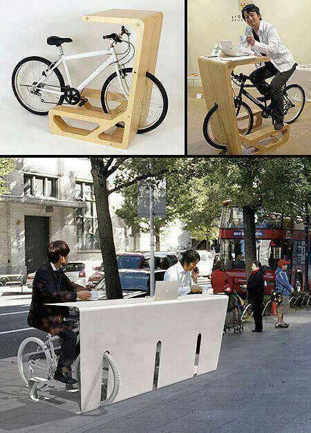 Mobiliario urbano - ¡Que idea tan genial! Hacer ejercicio mientras se está trabajando.... Me encanta! ♥♥♥ What an awesome idea! Working out while you're working.... Love it!