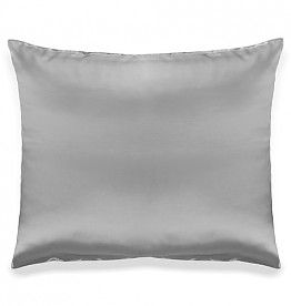 100% Puur zijden kussensloop van Silk Heaven, natural night care for skin and hair. In de kleur licht grijs.