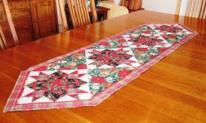 Red Table Runner Extra Long