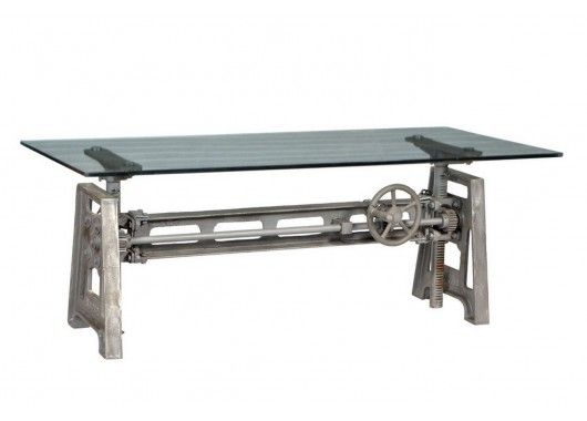 Schreibtisch mit Glasplatte - Schreibtische - Wohnen