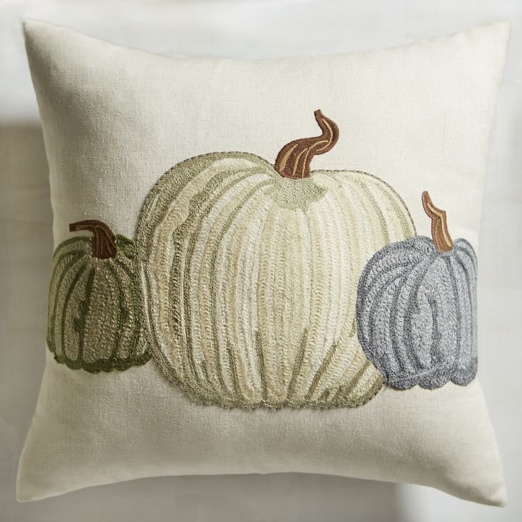 soft decorative pillows. Gilded Embroidered Pumpkin Pillow  White 550 best Decor Throw Pillows images on Pinterest Noel Pier