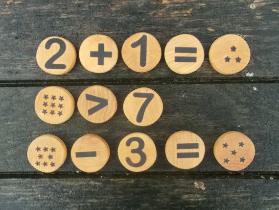 Handmade wooden number, eco friendly toy, educational game, waldorf toy