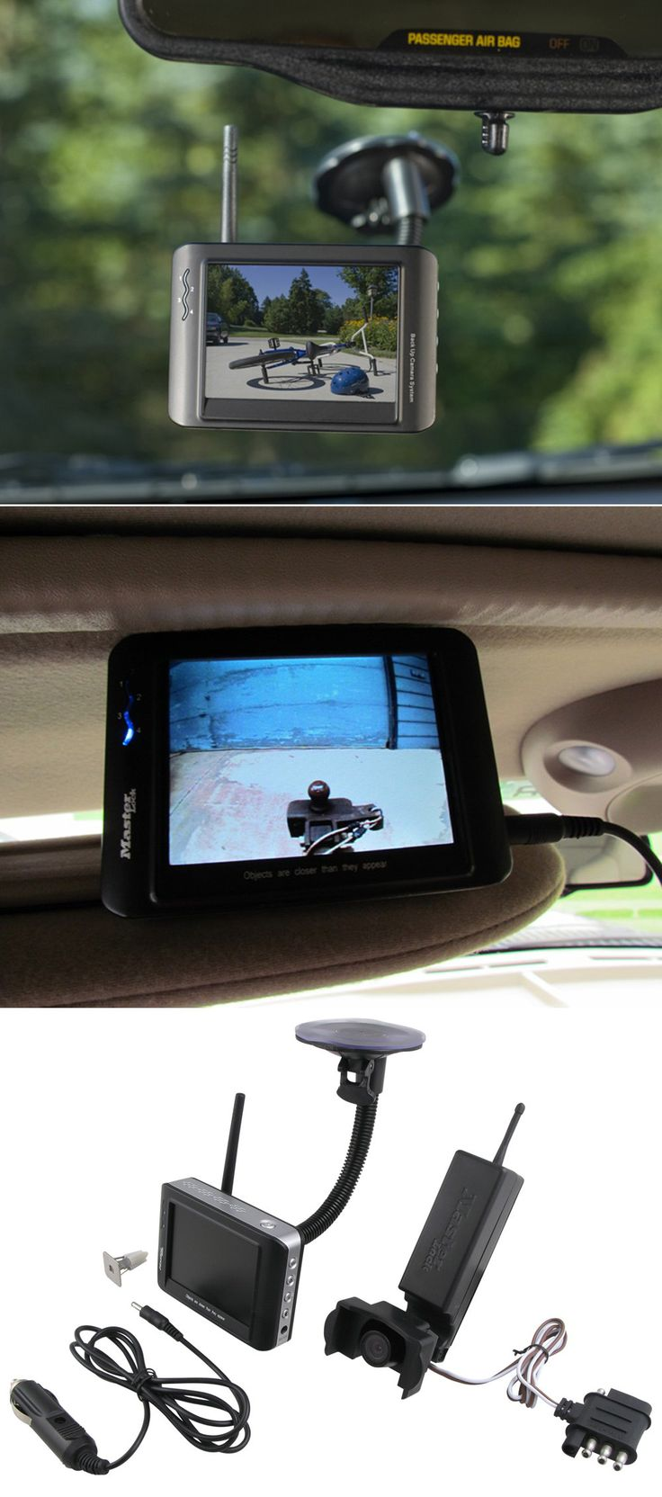 Master Lock Backup Camera for lining up the hitch or even just backing up. A unique gift idea for dad's (hint hint: Father's Day!) who love their truck!