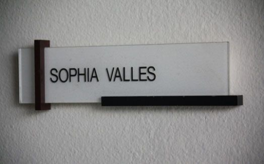 Door Nameplate Design Architecture Graphic