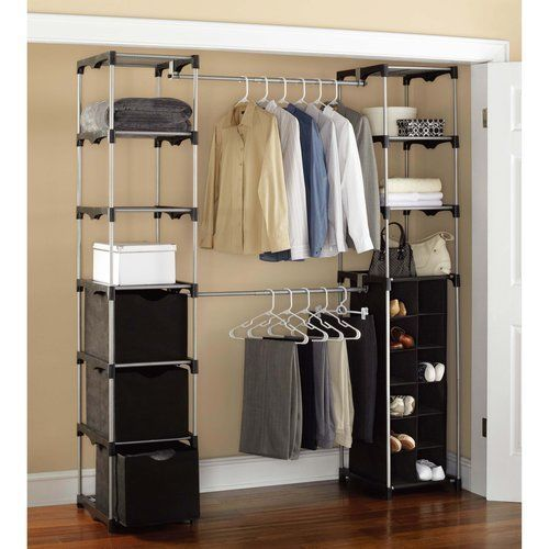 Wardrobe Closet Storage Organizer Rack Clothing Shoes Garment Bedroom  Shelves #nonbranded