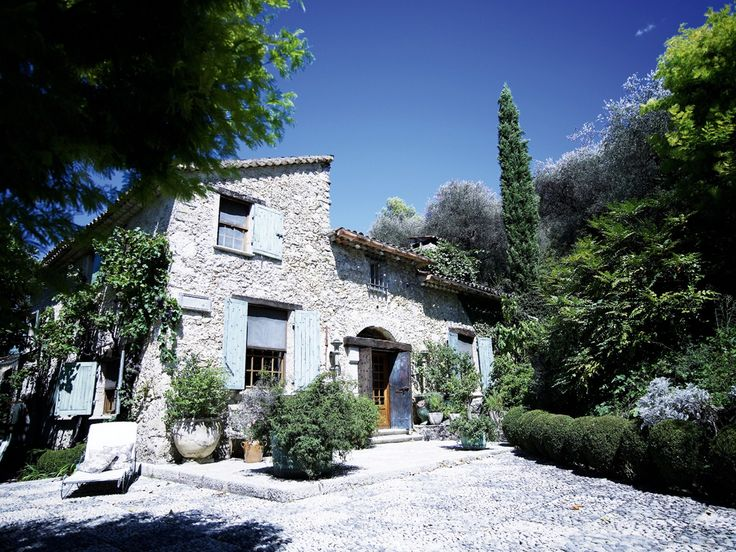 This provencial home used to belong to director David Lean.  It's gorgeous inside and outside.