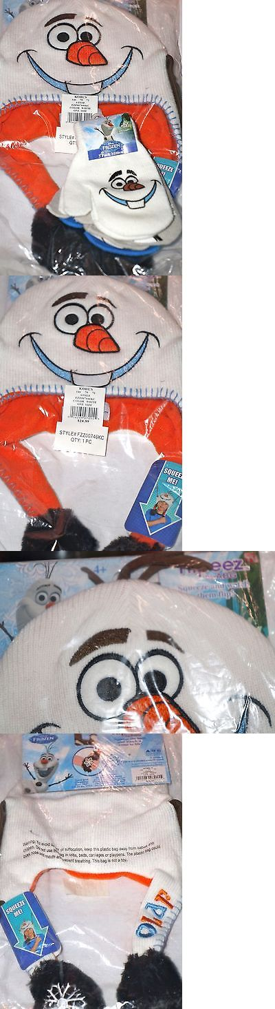 Hats 57884: Disney Frozen Olaf Boys Flipeez(As Seen Tv) Hat And 3 Pk Mittens White Blue New -> BUY IT NOW ONLY: $40.66 on eBay!