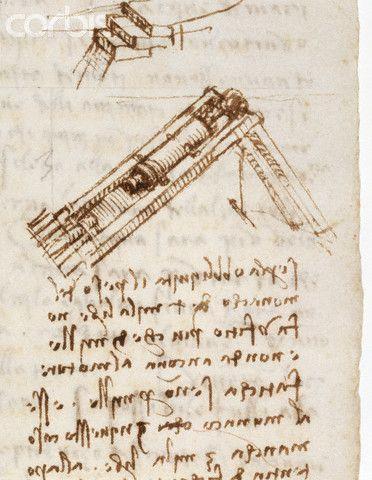 Detail Showing a Pile Driver from Codex Leicester by Leonardo da Vinci #TuscanyAgriturismoGiratola
