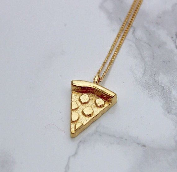 Pizza Emoji Necklace Pizza Jewelry Pizza Necklace 3D by PowHiSo #emojis #pizzajewelry #pizzaparty