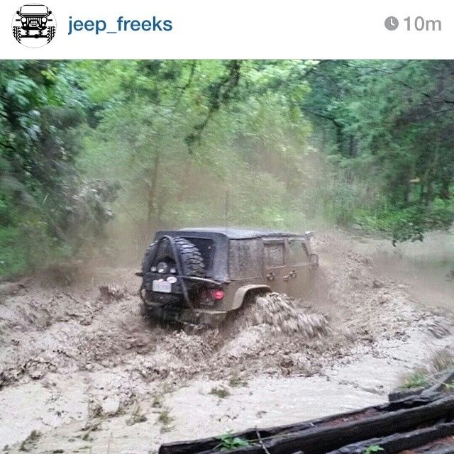 Real JEEP owners do this with their vehicles!  You yuppies, keep your small little tires and go through the auto wash every other day!