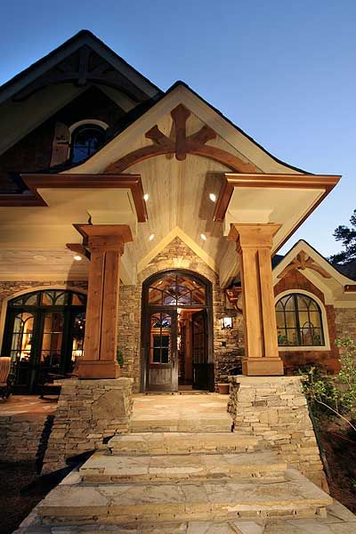 Plan 15651GE: Award-Winning Gable Roof Masterpiece. Home EntrancesFront ...