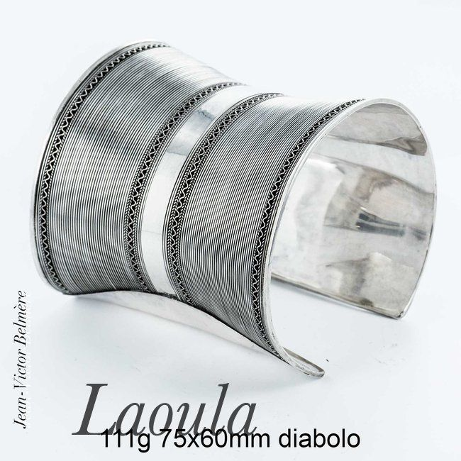 Bijoux ethniques, bracelet argent Ayamberta 242062