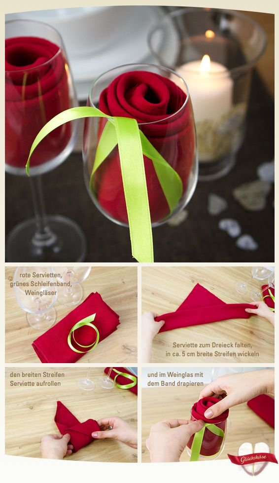 Deko Idee für Muttertag & Valentinstag. Easy rose decoration for dinner or Valentine's
