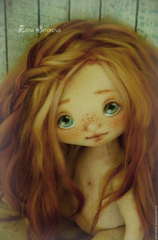 Коллекционные куклы ручной работы. Ярмарка Мастеров - ручная работа. Купить Юленька. Handmade. Голубой, авторская кукла, ручная работа