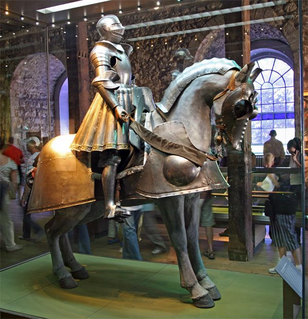 When I went to the Tower in London, I saw King Henry VIII's armor...of course, this would be a young King Henry...